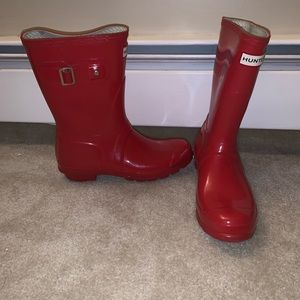 Red Hunter Boots rain boots. Size 7.